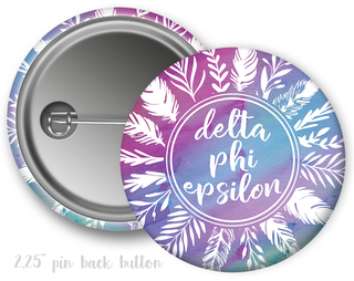 Delta Phi Epsilon Feathers Button
