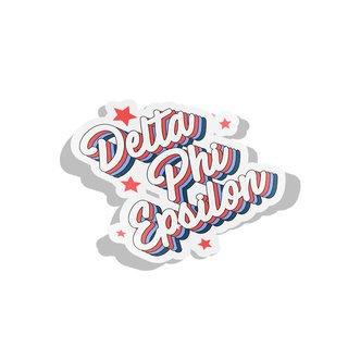 Delta Phi Epsilon Flashback Decal Sticker