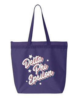 Delta Phi Epsilon Flashback Tote bag