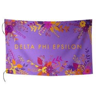 Delta Phi Epsilon Floral Flag