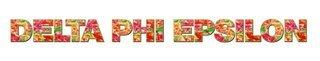 "Delta Phi Epsilon Floral Long Window Sticker - 15"" long"