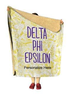 Delta Phi Epsilon Floral Sherpa Lap Blanket
