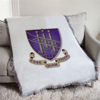 Delta Phi Epsilon Full Color Crest Afghan Blanket Throw