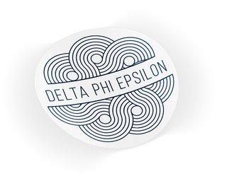 Delta Phi Epsilon Geo Scroll Sticker Sticker