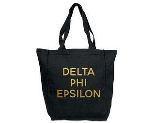 Delta Phi Epsilon Gold Foil Tote bag