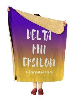 Delta Phi Epsilon Gradient Sherpa Lap Blanket