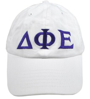 Delta Phi Epsilon Greek Letter Hat