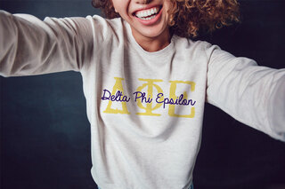 Delta Phi Epsilon Greek Type Crewneck Sweatshirt