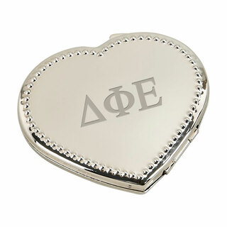 Delta Phi Epsilon Heart Shaped Classic Compact