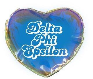 Delta Phi Epsilon Heart Shaped Makeup Bag