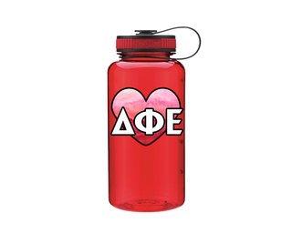 Delta Phi Epsilon Heart Wide Mouth Water Bottle