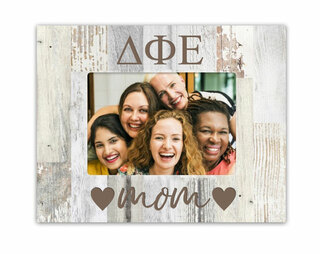 Delta Phi Epsilon Hearts Faux Wood Picture Frame