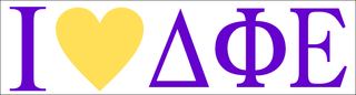 Delta Phi Epsilon I Love Bumper Sticker