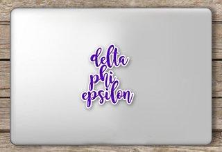 Delta Phi Epsilon Script Sticker