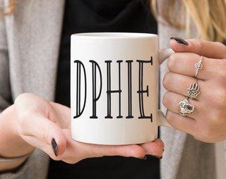 Delta Phi Epsilon Inline Coffee Mug