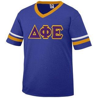 DISCOUNT-Delta Phi Epsilon Jersey With Greek Applique Letters