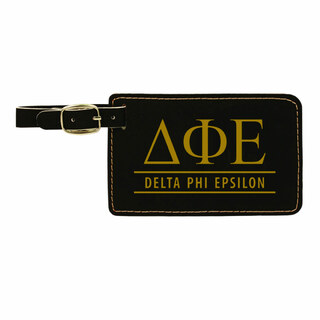 Delta Phi Epsilon Leatherette Luggage Tag