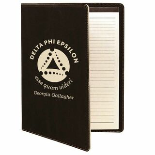Delta Phi Epsilon Leatherette Mascot Portfolio with Notepad
