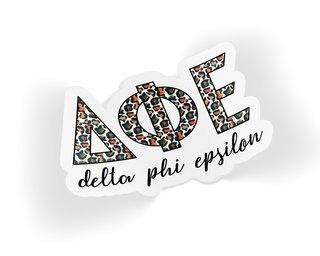 Delta Phi Epsilon Leopard Sticker