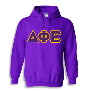 Delta Phi Epsilon Lettered Greek Hoodie- MADE FAST!