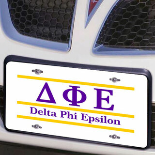 Delta Phi Epsilon Lettered Lines License Cover