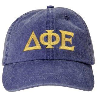 Delta Phi Epsilon Lettered Premium Pastel Hat