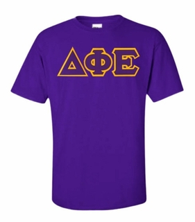 Delta Phi Epsilon Lettered T-shirt - MADE FAST!