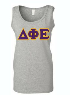 DISCOUNT-Delta Phi Epsilon Lettered Ladies Tank Top
