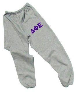 Delta Phi Epsilon Lettered Thigh Sweatpants