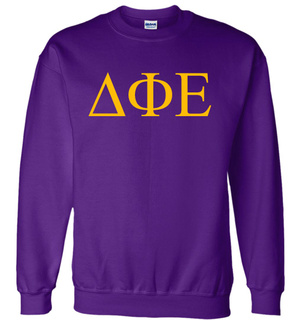 Delta Phi Epsilon Lettered World Famous $19.95 Greek Crewneck