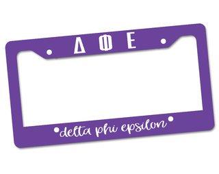 Delta Phi Epsilon Custom License Plate Frame