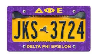 Delta Phi Epsilon License Plate Frame