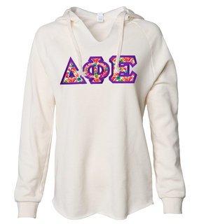 Delta Phi Epsilon Lightweight California Wavewash Hooded Pullover Sweatshirt
