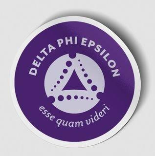 Delta Phi Epsilon Logo Round Decal
