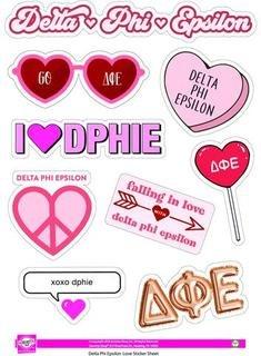 Delta Phi Epsilon Love Theme Stickers