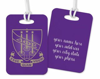 Delta Phi Epsilon Crest - Shield Luggage Tag