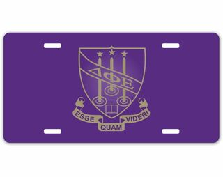 Delta Phi Epsilon Crest - Shield License Plate