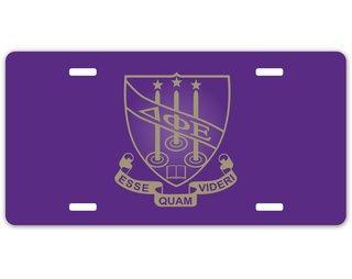 Delta Phi Epsilon Crest - Shield License Plate