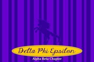 Delta Phi Epsilon Mascot Tablecloth