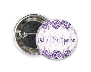 Delta Phi Epsilon Mom Floral Button