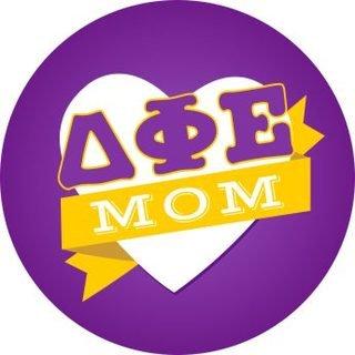 Delta Phi Epsilon Mom Round Decals
