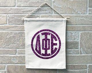 Delta Phi Epsilon Monogram Banner