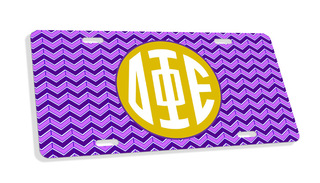 Delta Phi Epsilon Monogram License Plate