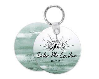Delta Phi Epsilon Mountain Key Chain