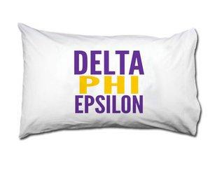 Delta Phi Epsilon Name Stack Pillow Cover