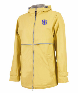 Delta Phi Epsilon New Englander Circle Monogram Rain Coat