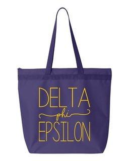 Delta Phi Epsilon New Handwriting Tote Bag