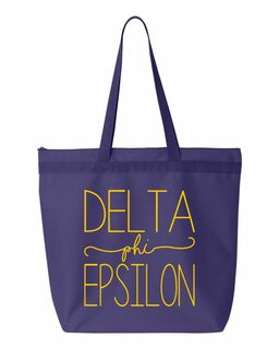 Delta Phi Epsilon New Handwriting Tote Bag