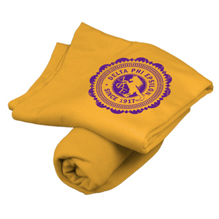 Delta Phi Epsilon Old School Seal Sweatshirt Blanket