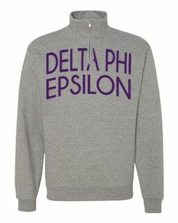 Delta Phi Epsilon Over Zipper Quarter Zipper Sweatshirt